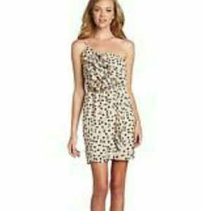 NWT $108 BCBGMaxAzria one shoulder dress